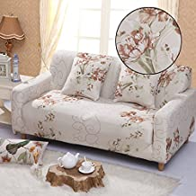 Elastic Anti Wrinkle Couch Covers , Sofa Slipcover For 2 Seater Loveseat Soft Lightweight Slip Resistant Sofa Furniture Protector Cover Fit Many Popular Sofas (Retro flowers)By lifeng80