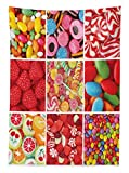 Ambesonne Colorful Tablecloth, Collage of Photos