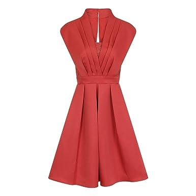 Little Mistress Womens/Ladies Terracotta Pleat Prom Dress (12) (Orange)