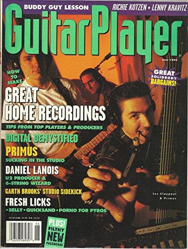 Guitar Player Magazine June 1993 Buddy Guy Lesson, Garth Brook's Studio Sidekick, Primus, Daniel Lanois U2 Producer & 6 String Wizard and More (U2 Daniel Lanois)