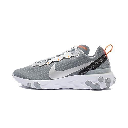 best service d7f56 cbbf0 Nike React Element 55 CD1503-001 Cool Grey Metallic Silver Hyper Crimson   Amazon.it  Scarpe e borse