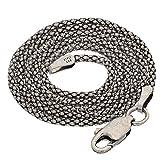 "Sterling Silver Antiqued Popcorn Chain Necklace or Bracelet(Lengths 7"",8"",14"",16"",18"",20"",22"",24"",30"",32"",36"")"