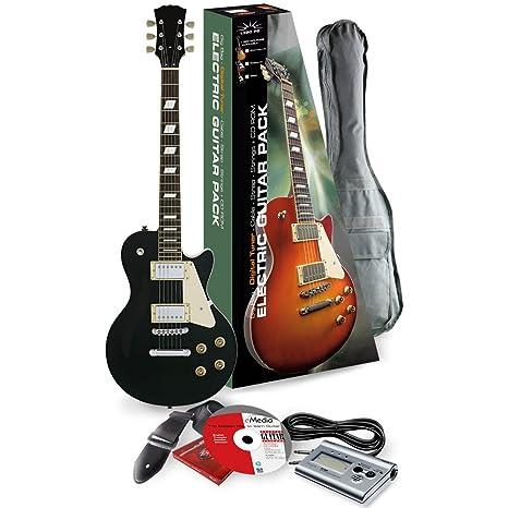 Rocket Music EGL44BKPK - Kit de guitarra eléctrica (pastillas Humbucker, puente Tune-o