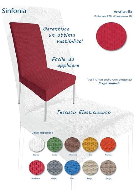 c7815d5c27 Irge Coprisedie con schienale 4 pezzi Elasticizzato Copertura della sedia  bi-elastico per una misura