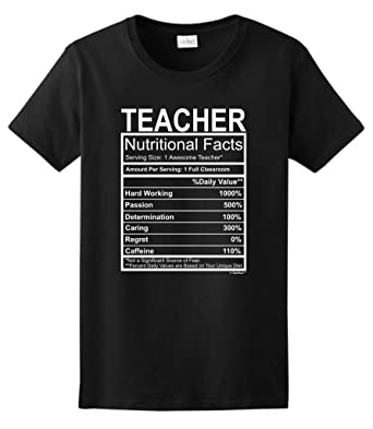 Amazon.com: Teacher Gift Nutritional Facts Gag Gifts Funny Ladies ...
