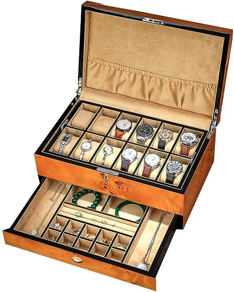 Caja de Almacenamiento de Joyas y Relojes con Caja de Gemelos y ...