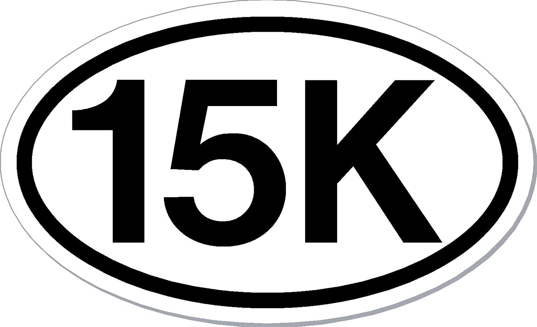 """30K Runner  Oval car window bumper sticker decal 5/"""" x 3/"""""""