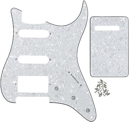 Tremolo String Cover Back Plate for Strat Guitar White