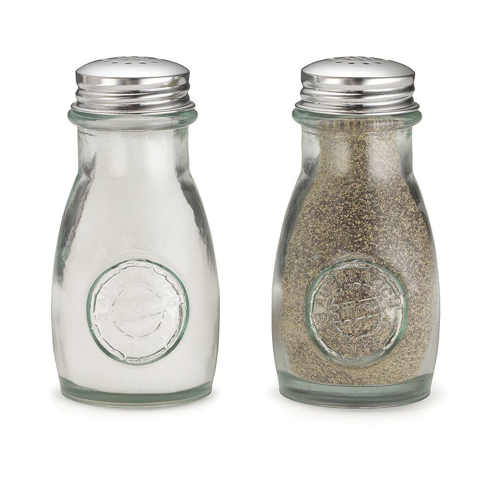 TableCraft 6618 Green Glass 4 Ounce Salt / Pepper Shaker - 24 / CS