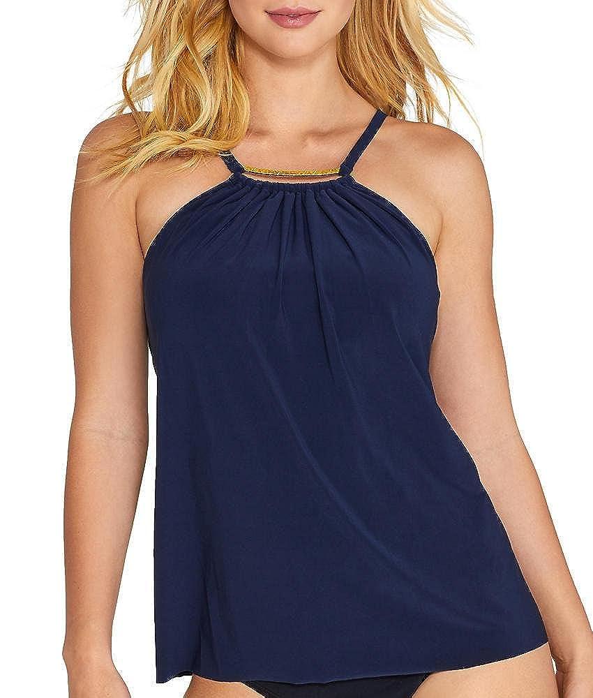 5993a15b0a Amazon.com: Magicsuit Women's Golden Opportunity Marni Top Navy 10: Clothing