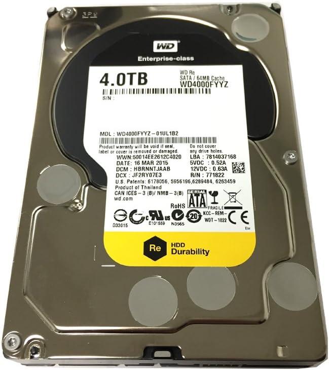 "(Old Model) Western Digital RE 4TB 7200RPM 64MB Cache SATA 6.0Gb/s 3.5"" Enterprise Internal Hard Drive (WD4000FYYZ) OEM - 3 Years Warranty"