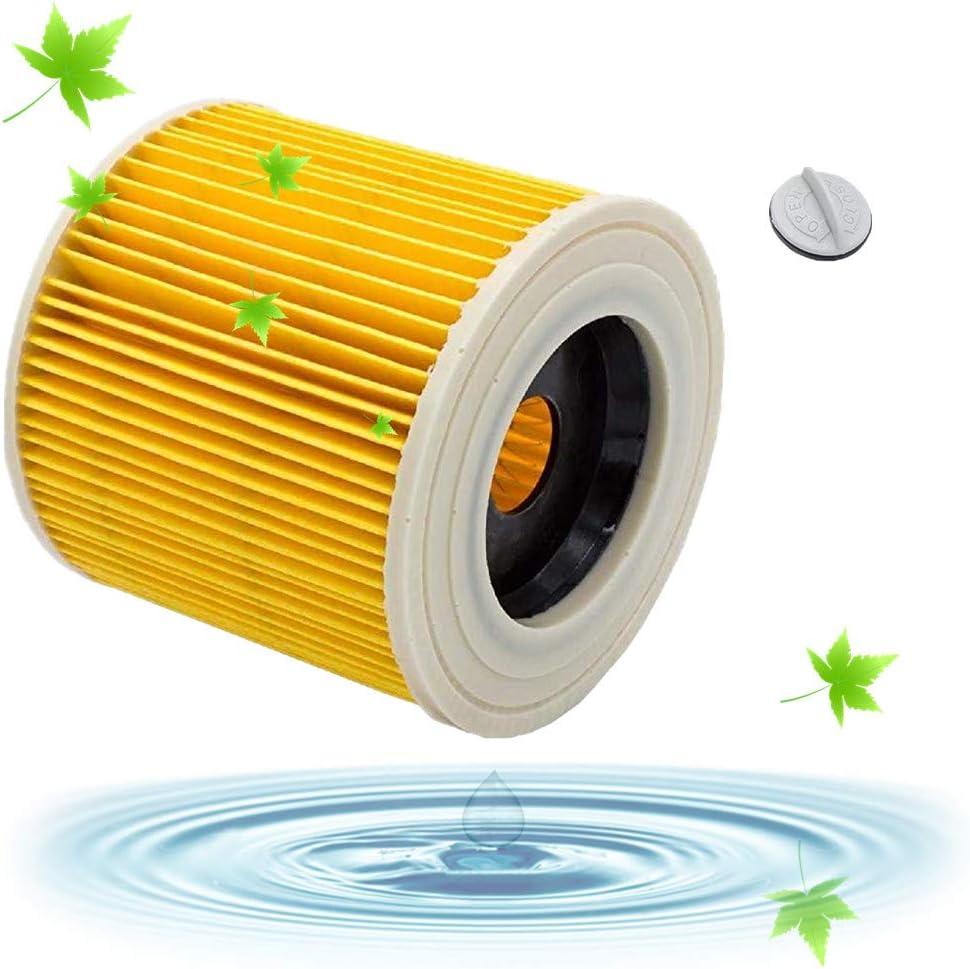 Filtros Lavables para Aspiradora Kärcher WD3 WD2 WD3.200 WD3300, Filtro Kärcher a2604 a2204 a2054 a2004 a2554 a2654 Filtro Húmedo y Seco, Amarillo: Amazon.es: Grandes electrodomésticos