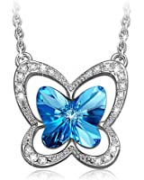LADY COLOUR - Farfalla - Collana donna con cristalli da SWAROVSKI® - la collezione Natura