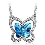 Lady colour - Mariposa - Collar mujer con cristales de Swarovski - la coleccion Nature