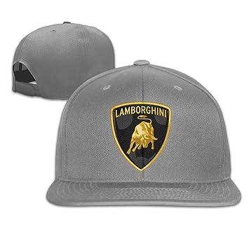 MaNeg Lamborghini Logo Unisex Fashion Cool Adjustable Snapback Baseball Cap  Hat One Size Ash  Amazon.ca  Sports   Outdoors c5bfe11a40a