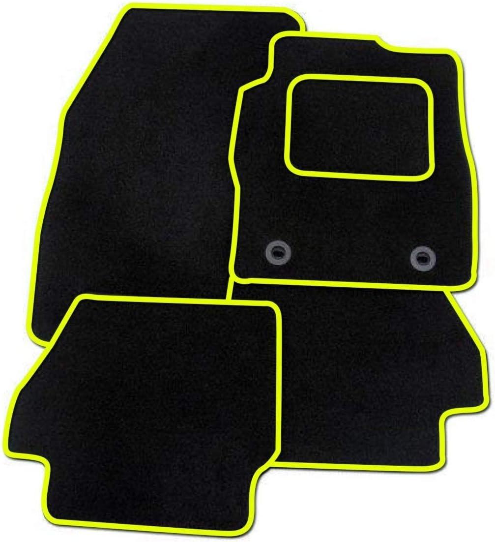 Ultra Durable Full Width Heel Pad Car Mats to fit C4 Cactus 2014+ Black Heel Pad Grey Carpet 1648 Black Trim