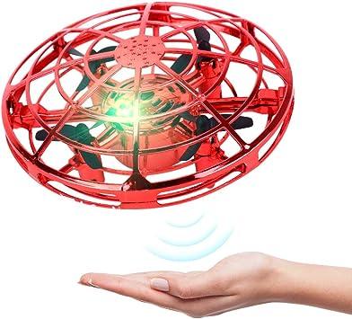 Opinión sobre BELLA BEAR UFO Mini Drone Juguetes voladores con Luces LED Inducción infrarroja Controlado a Mano Fácil de operar para niños (Rojo)