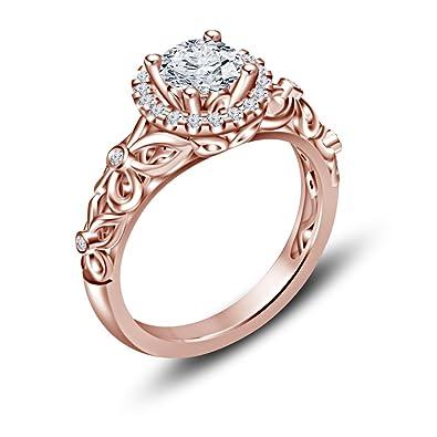 Vorra Fashion 14K Rose Gold 925 Silver CZ Disney Princess Snow White