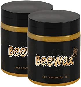 1/2PC Wood Seasoning Beewax - Traditional Beeswax Polish for Wood & Furniture, All-Purpose Beewax for Wood Cleaner and Polish Wipes - Non Toxic for Furniture to Beautify & Protect, No Build-Up (2PC)