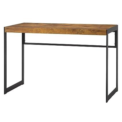 Amazon.com: Coaster Estrella Industrial Antique Nutmeg Writing Desk ...