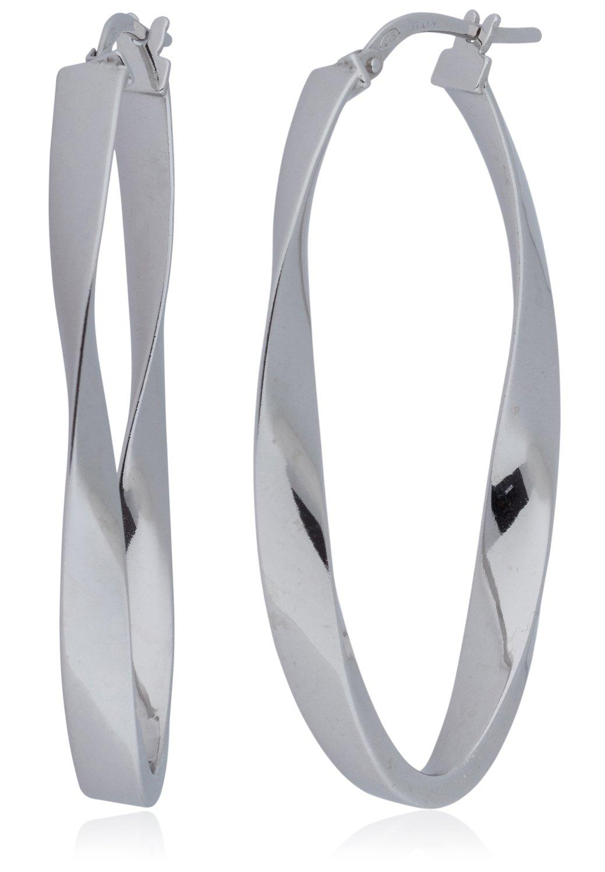 Silverluxe Women s Sterling Silver Large Oval Hoop Earring With A ... 6bbaa8717f