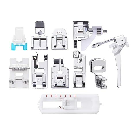 Healifty 11pcs Prensatelas Accesorios Multifuncional para máquina de Coser