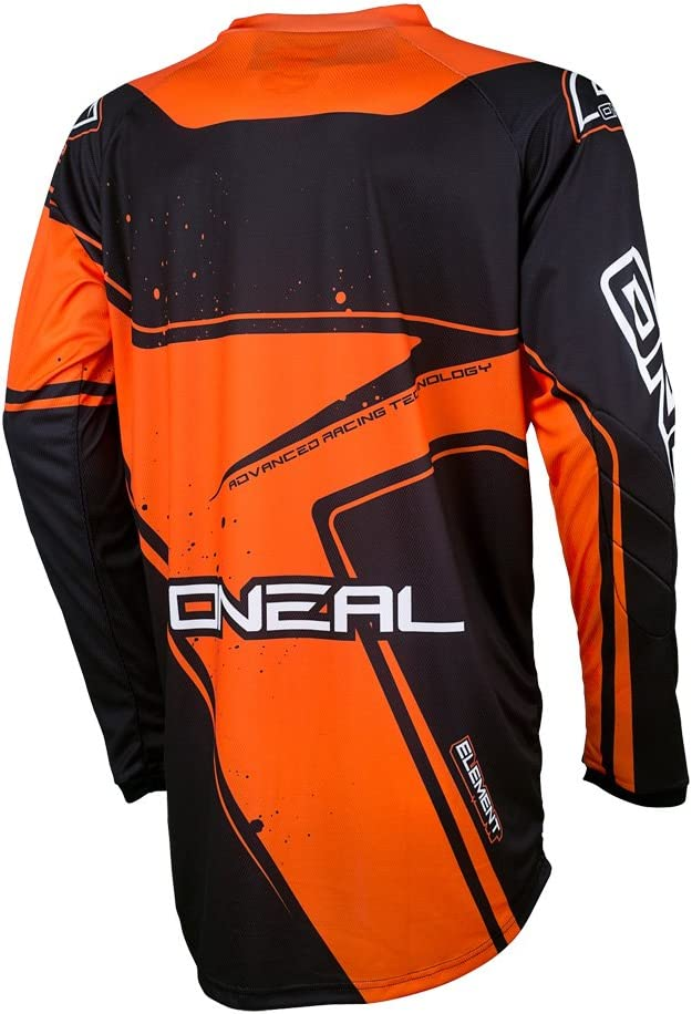 O/'Neal Element Racewear schwarz orange Jersey Trikot mx motocross mtb DH