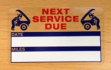 Oil Change Stickers - Service Reminder Stickers (100+ Count) Free Sharpie  with Order