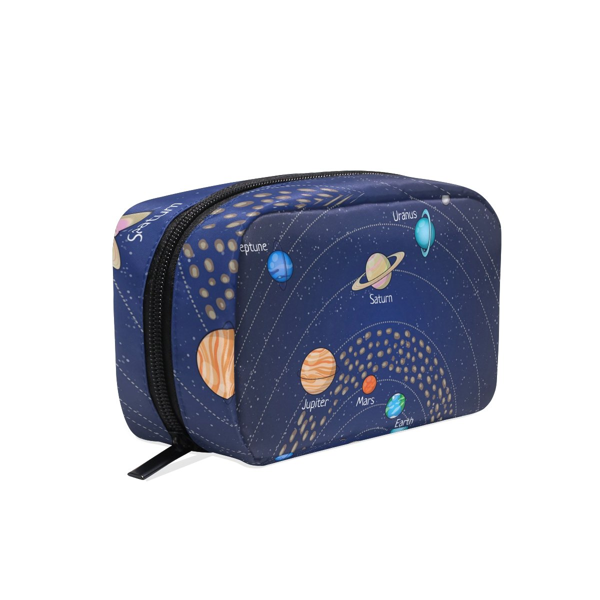 COOSUN Educational Astronomy Planet Cosmetic Pouch Clutch Makeup Bag Travel Organizer Case Toiletry Pouch for Women DragonSwordlinsu