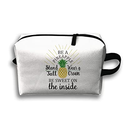 f2d2606ddaf4 chic Be A Pineapple Pineapple AABB Travel Bag Large Toiletries Bag Cosmetic  Pouch Pencil Case Tote