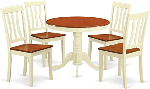 East West Furniture modern dining table set 4 Fantastic dining room chair