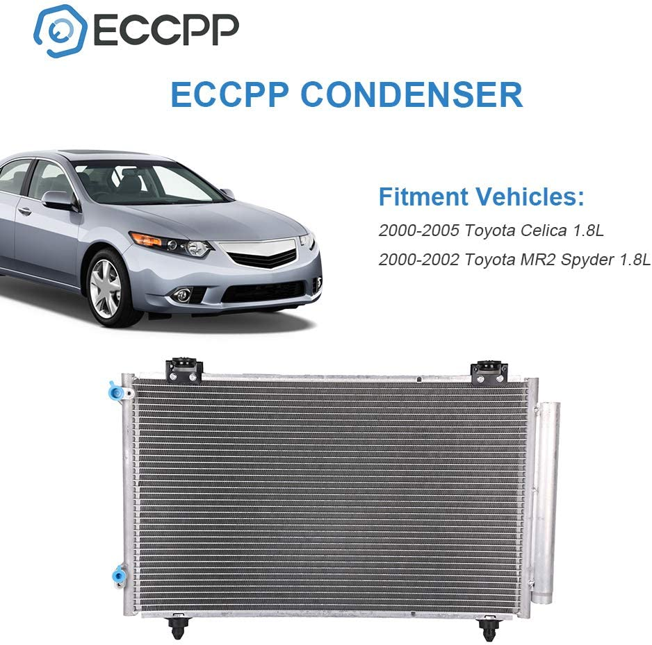 OCPTY Aluminum AC A//C Condenser Replacement fit for 2003 2004 Toyota Corolla Matrix AC3085