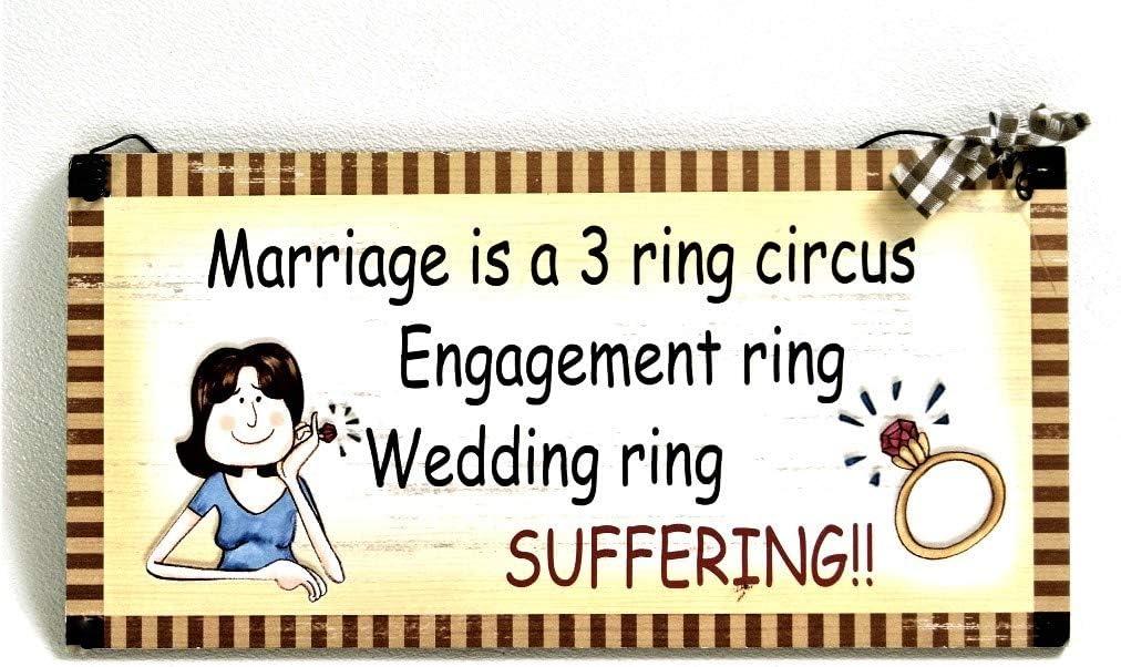Estilo de madera para colgar señal matrimonio es un circo 3 anillo ...