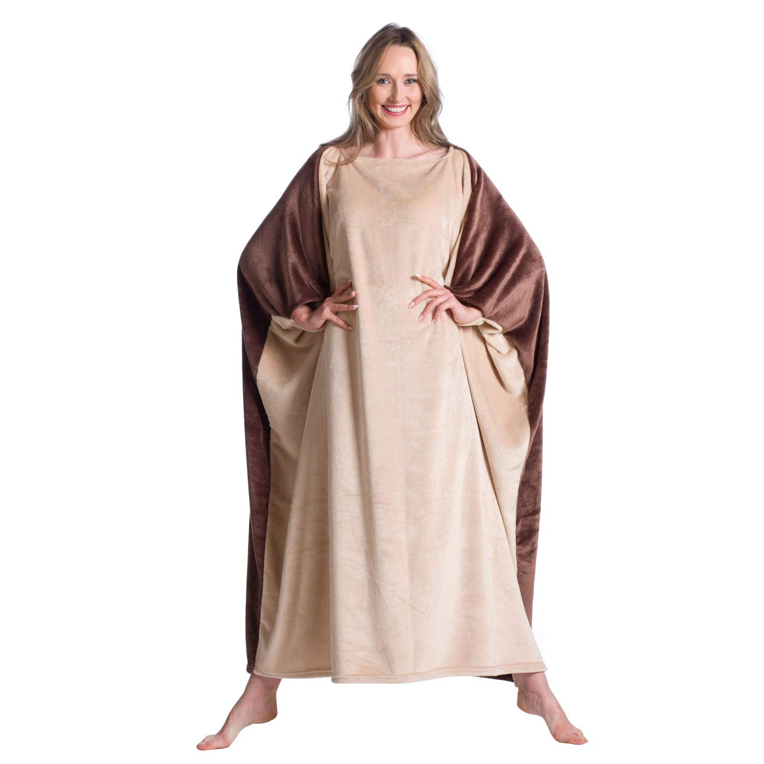 Men Fun Gifts for Christmas and Birthday Women Kanguru Wearable Blanket with Sleeves for Adult