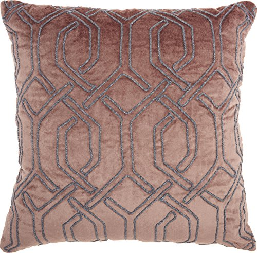 Mina Victory by Nourison SC015 Luminescence Embroidered Interlock Throw Pillow, 18