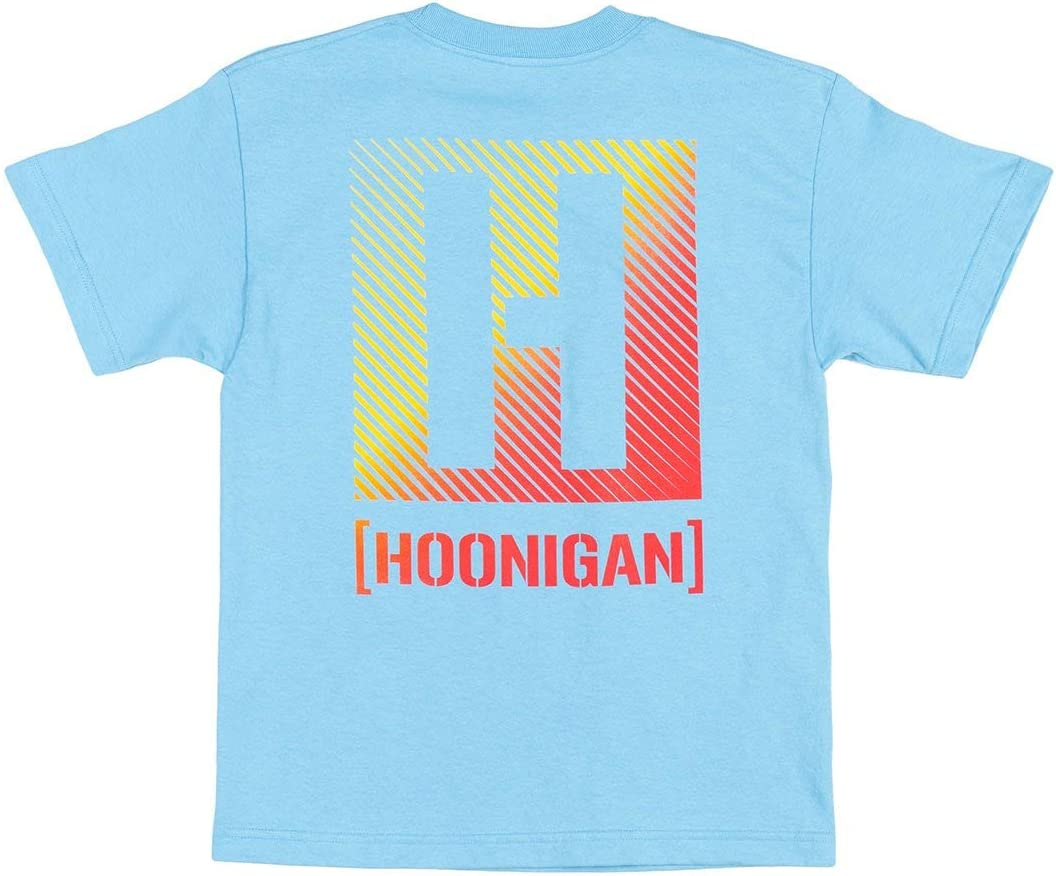 Mechanics and Gear Heads 100/% Cotton Tee Shirt Perfect for Car Hoonigan Logo Lines Youth Short Sleeve Graphic T-Shirt Truck or Drifting Enthusiasts