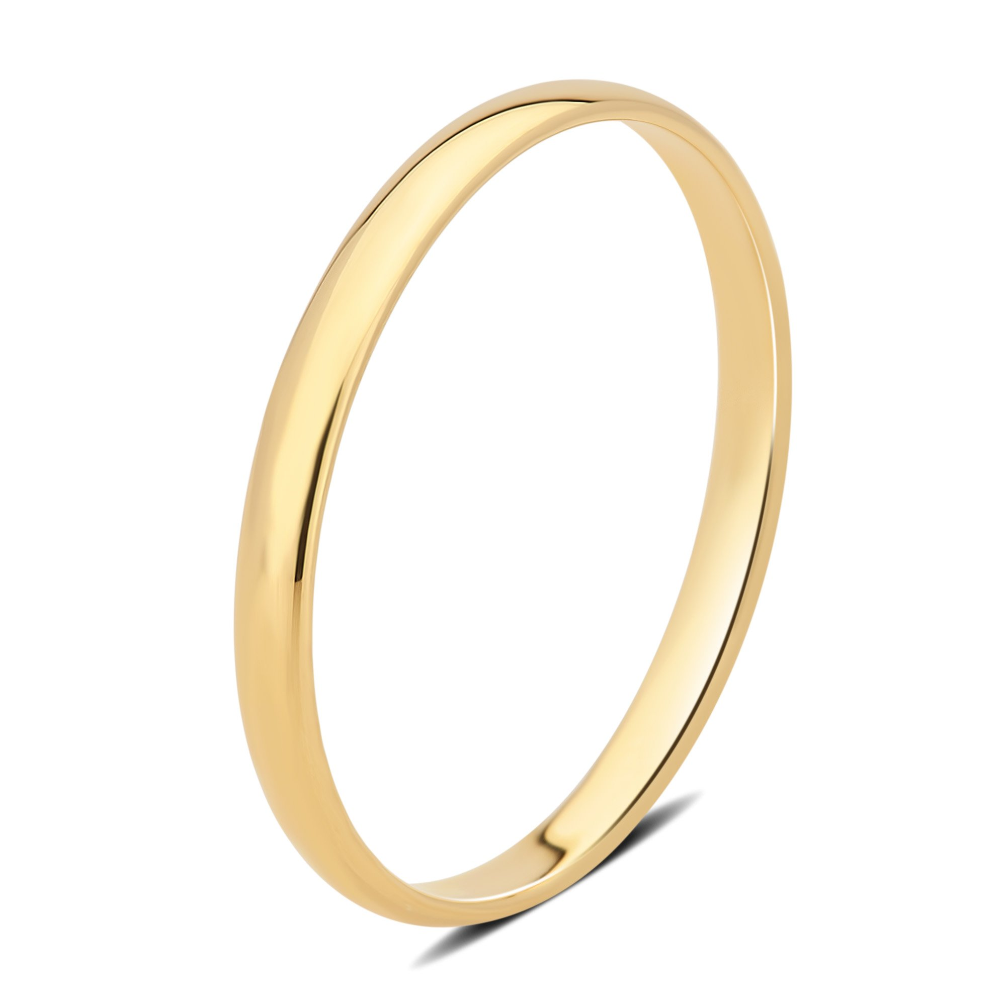 DiamondMuse 2 mm Plain Wedding Band in 10K Yellow Gold (9)