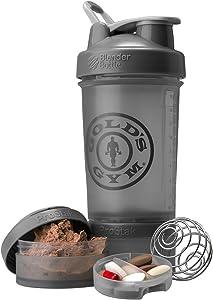 Blender Bottle Gold's Gym ProStak 22 oz. Shaker with Twist N' Lock Jars - Gray
