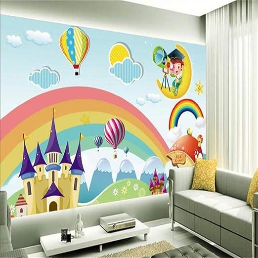 YBHNB Murales para niños en 3D, Fondo, Habitación para niños ...