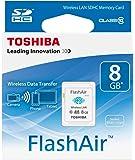 Toshiba Flashair, Scheda di Memoria SDHC 08 GB, Trasferimento Wi-Fi, LAN, Cl 10, Bianco