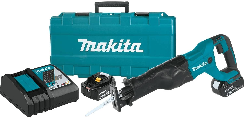 Makita XRJ04T 18V LXT Lithium-Ion Cordless Recipro Saw Kit (5.0Ah)