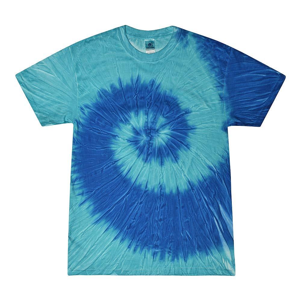 Colortone Tie Dye T-Shirt XL Stella Blue by Colortone (Image #1)