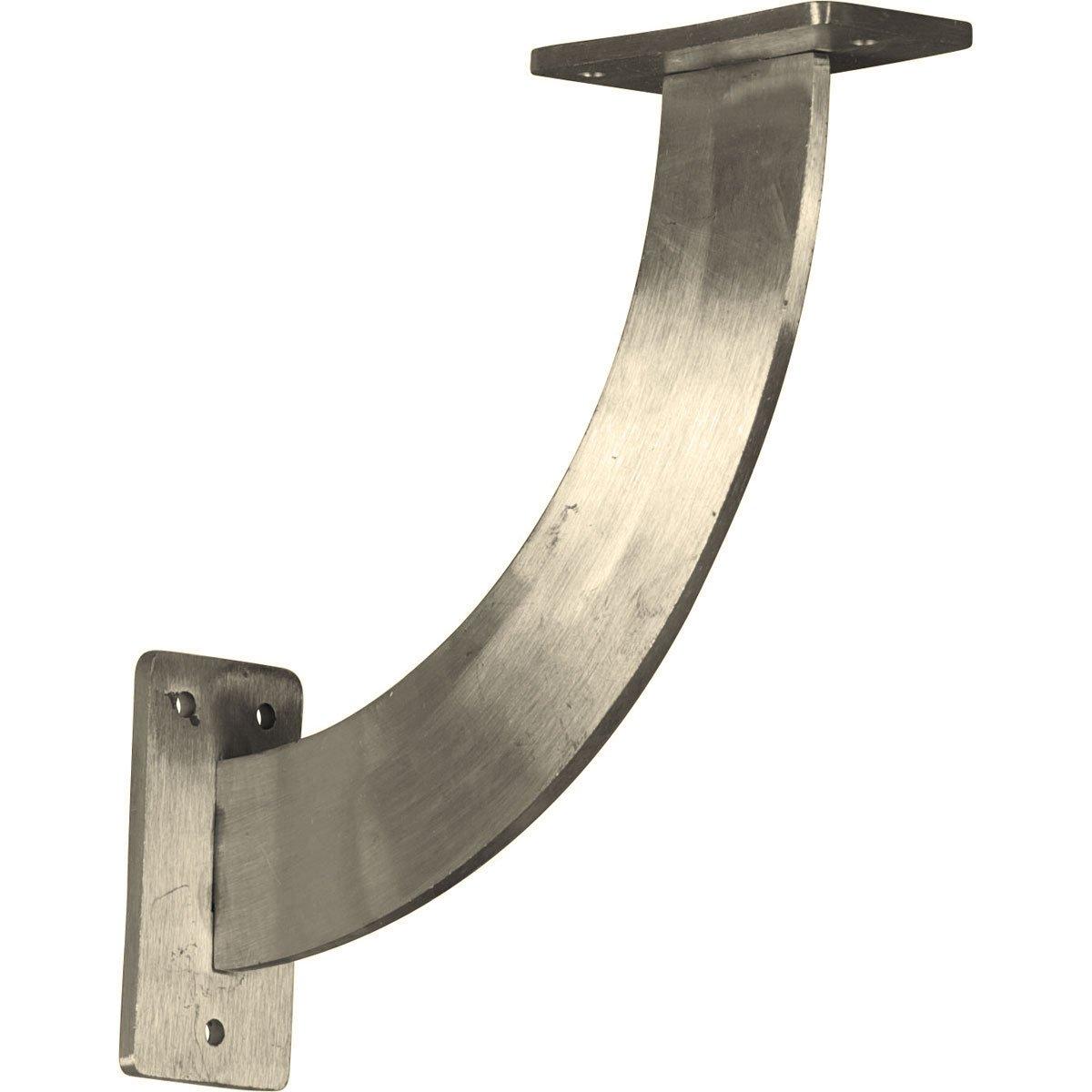 Ekena Millwork BKTM02X09X09BRSS  2-Inch W x 9-Inch D x 9-Inch H Bradford Bracket, Stainless Steel
