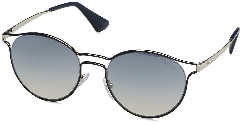 49e1c30c2a6ce Amazon.com  Prada Women s PR 62SS Sunglasses Blue Silver   Blue Mirror  Silver 80 53mm  Clothing