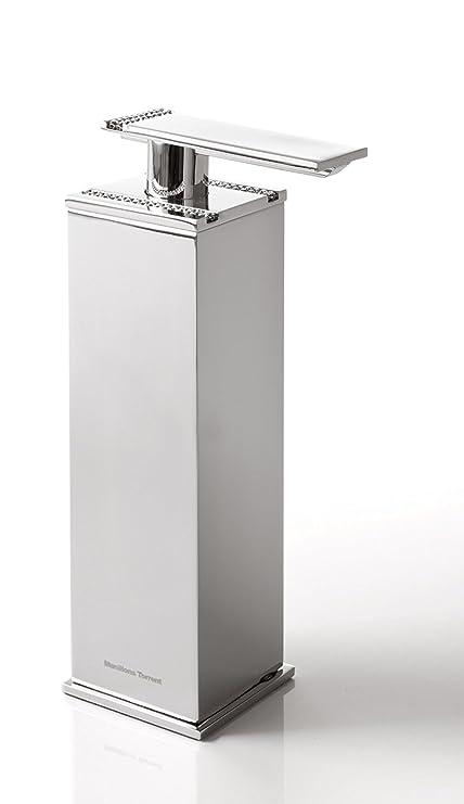 Carmen encimera dispensador de jabón, cristales de Swarovski, cromo pulido, montaje en cuadro