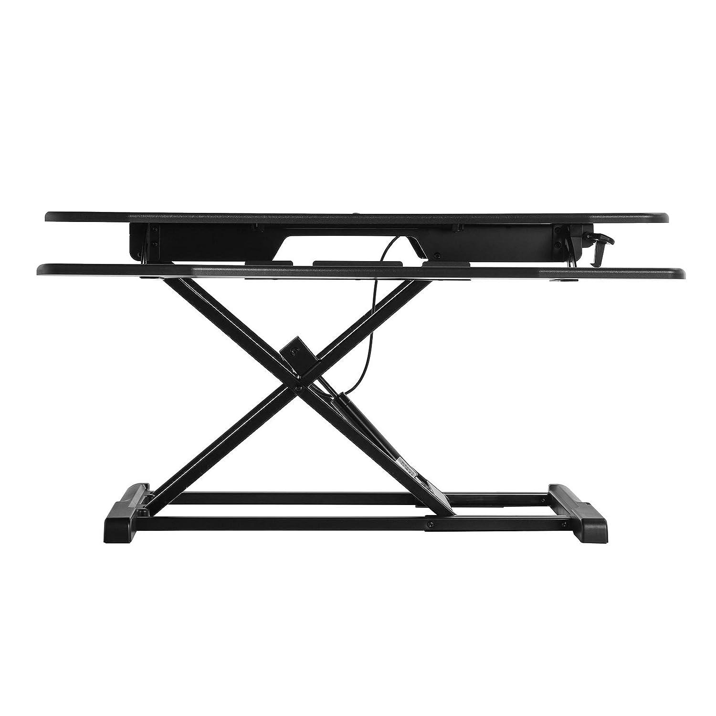SONGMICS Standing Desk Black 95 x 40 cm LSD06BK Height Adjustable Stand Up Desk with Large Surface