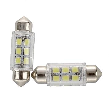 6 Smd Feston C5w Lampe Dome Sodial Blanc Ampoule Voiture Led r2pcs yPOwN8nvm0