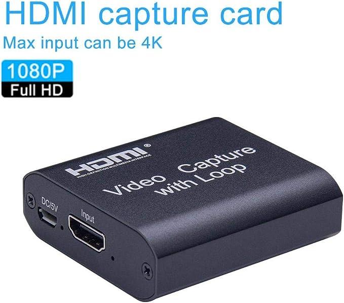1080P HD 30 fps /& Aufnahme /über DSLR Camcorder Action Cam Streaming Grabber Capture Card Support Game//Live Broadcast 4K HDMI zu USB 2.0 Video Capture Ger/ät HDMI Full HD Video Capture Card