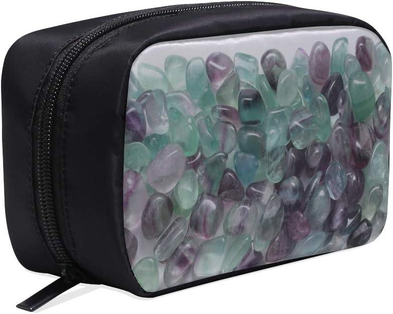 Bolso de baño de viaje para hombres Gema de mineral de fluorita Decorar Bendiga bolsa de colección de maquillaje de piedra Bolsa de cosméticos de viaje Bolsa de maquillaje de viaje para hombres Bolsa
