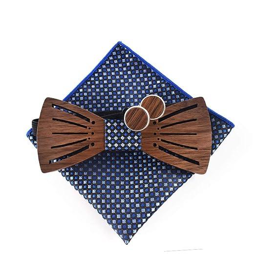 Pajarita de madera para hombre Traje de corbata de madera ...
